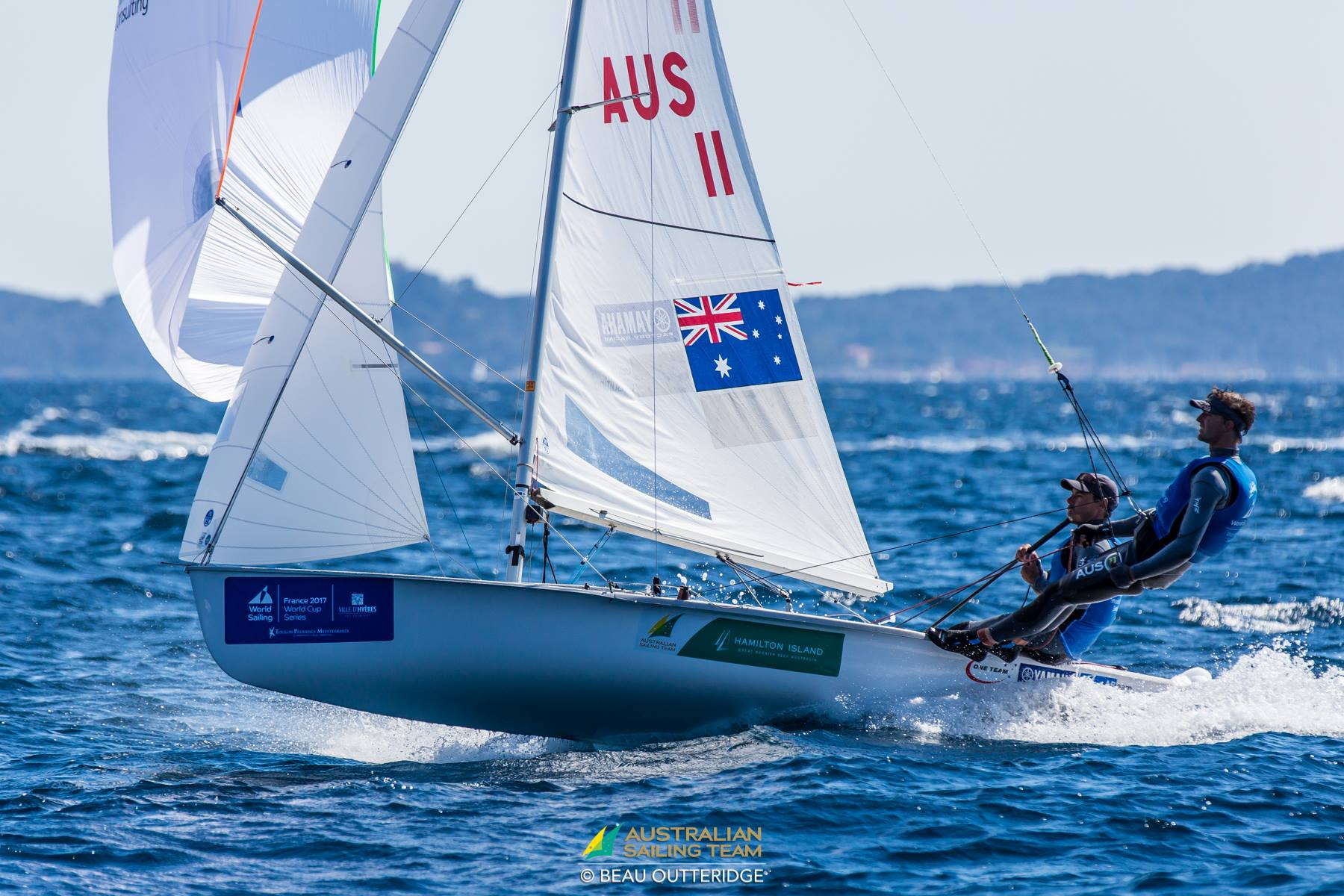 Mathew-Belcher-OAM-and-Will-Ryan-2017-World-Cup-Series-Hyeres-France-Onwater
