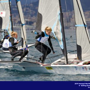 Genoa, Italy is hosting sailors for the third regatta of the 2019 Hempel World Cup Series from 15-21 April 2019. More than 700 competitors from 60 nations are racing across eight Olympic Events. ©JESUS RENEDO/SAILING ENERGY/WORLD SAILING 15 April, 2019.