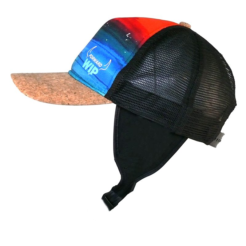 1. COOL CAP - SUNSET WITH FIXES EAR STRAP