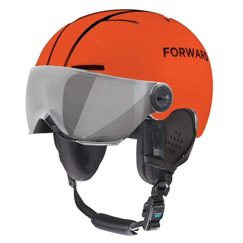 1. X-OVER HELMET VISOR - ORANGE NEON